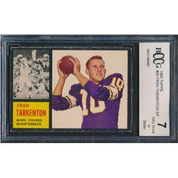 1962 Topps #90 Fran Tarkenton RC (BCCG 7)