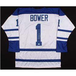 """Johnny Bower Signed Jersey Inscribed """"China Wall""""  """"HOF 76"""" (JSA COA)"""