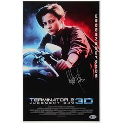 "Edward Furlong Signed ""Terminator 2: Judgment Day"" 11x17 Movie Poster (Beckett COA)"