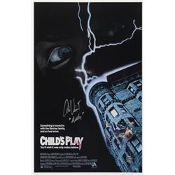 """Alex Vincent Signed """"Child's Play"""" 11x17 Movie Poster Inscribed """"Andy"""" (Legends COA)"""