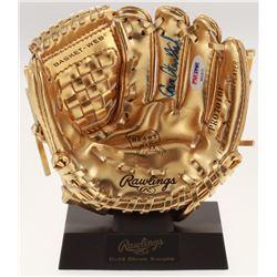 Carlton Fisk Signed Rawlings Gold Mini Baseball Glove (PSA COA)