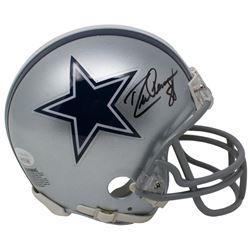 Drew Pearson Signed Dallas Cowboys Mini Helmet (JSA COA)