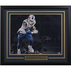 Todd Gurley Signed Los Angeles Rams 22x27 Custom Framed Photo Display (Beckett COA)