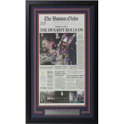 2019 New England Patriots Super Bowl 53 18x30 Custom Framed Newspaper Display