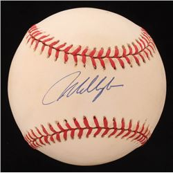 Mo Vaughn Signed OAL Baseball (Beckett COA)