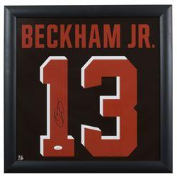 Odell Beckham Jr. Signed 20x20 Custom Framed Jersey Number Display (JSA COA)