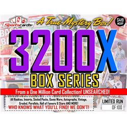 """MYSTERY 3200X SERIES"" A True Sports Card Mystery Box!"