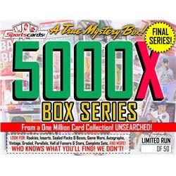 """MYSTERY 5000X SERIES"" A True Sports Card Mystery Box! – FINAL SERIES!"