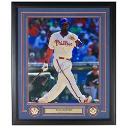 Ryan Howard Signed Philadelphia Phillies 22x27 Custom Framed Matted Photo Display (MLB Hologram)