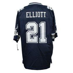 Ezekiel Elliott Signed Dallas Cowboys NFL Proline Jersey (Beckett COA)