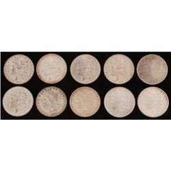 Lot of (10) 1878-1887 Morgan Silver Dollars