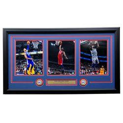 Ben Simmons, Joel Embiid  Jimmy Butler Philadelphia 76ers 18x35 Custom Framed Photo Display