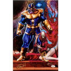 "Greg Horn Signed Marvel ""Thanos  Death"" 11x17 Lithograph (JSA COA)"