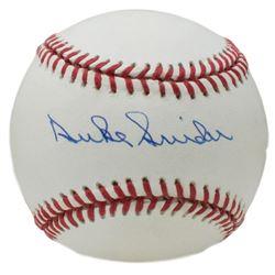 Duke Snider Signed ONL Baseball (JSA COA)