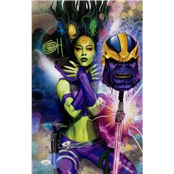 "Greg Horn Signed Marvel ""Gamora  Thanos"" 11x17 Lithograph (JSA COA)"