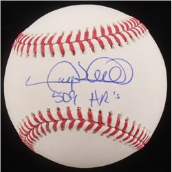 """Gary Sheffield Signed OML Baseball Inscribed """"509 HR's"""" (MAB Hologram)"""