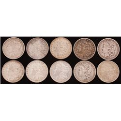 Lot of (10) 1879-1888 Morgan Silver Dollars