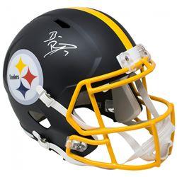 Ben Roethlisberger Signed Pittsburgh Steelers Full-Size Matte Black Speed Helmet (Beckett COA  Fanat
