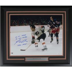 "Reggie Leach Signed Philadelphia Flyers 22x27 Custom Framed Photo Inscribed ""75 SC Champs,"" ""76 Conn"
