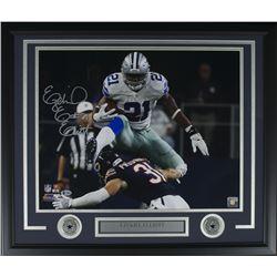 Ezekiel Elliott Signed Dallas Cowboys 22x27 Custom Framed Photo Display (Beckett COA)