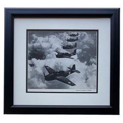"""""""Echelon Of Grumman"""" World War II 16x17 Custom Framed Photo Display"""