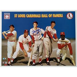 """Stan Musial Signed St. Louis Cardinals 15x20 Photo Inscribed """"HOF 69"""" (SI COA  Musial Hologram)"""