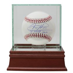 """Felix Hernandez Signed OML Baseball Inscribed """"Cy Young 2010"""" with High-Quality Display Case (JSA CO"""