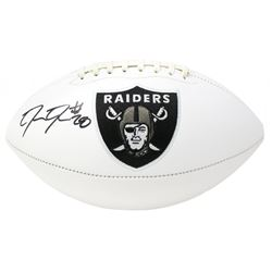 Josh Jacobs Signed Oakland Raiders Logo Football (Beckett COA  Jacobs Hologram)