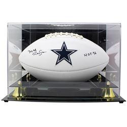 "Mel Renfro Signed Dallas Cowboys Logo Football Inscribed ""HOF 96"" with Display Case (JSA COA)"