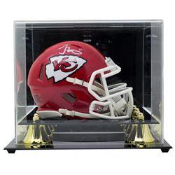 Tyreek Hill Signed Kansas City Chiefs Speed Mini Helmet with Display Case (JSA COA)