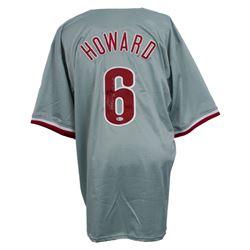 """Ryan Howard Signed Jersey Inscribed """"06 N.L. M.V.P."""" (Beckett COA)"""