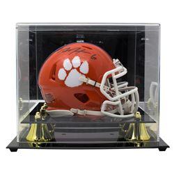DeAndre Hopkins Signed Clemson Tigers Speed Mini Helmet with Display Case (JSA COA)