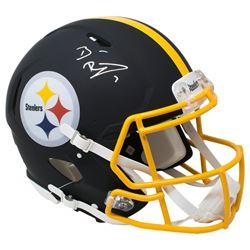 Ben Roethlisberger Signed Pittsburgh Steelers Full-Size Authentic On-Field Matte Black Speed Helmet