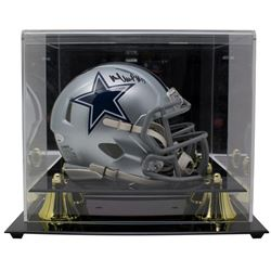 Michael Gallup Signed Dallas Cowboys Speed Mini Helmet with Display Case (TriStar Hologram)