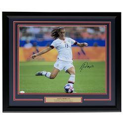 Alex Morgan Signed Team USA Soccer 22x27 Custom Framed Photo Display (JSA COA)