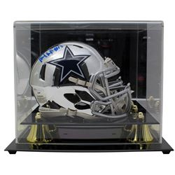 Michael Gallup Signed Dallas Cowboys Chrome Speed Mini Helmet with Display Case (TriStar Hologram)