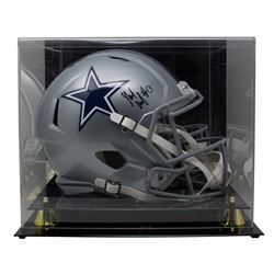 Michael Gallup Signed Dallas Cowboys Full-Size Speed Helmet with Display Case (TriStar Hologram)