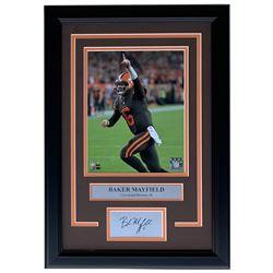 Baker Mayfield Cleveland Browns 11x14 Custom Framed Photo Display