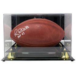 """Michael Irvin Signed """"The Duke"""" Official NFL Game Ball Inscribed """"HOF 07"""" with Display Case (JSA COA"""