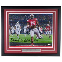Ezekiel Elliott Signed Ohio State Buckeyes 22x27 Custom Framed Photo Display (JSA COA)