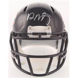 David Montgomery Signed Chicago Bears Speed Mini-Helmet (JSA COA)
