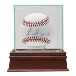 "Nolan Ryan Signed OML Baseball with Dsiplay Case Inscribed ""H.O.F. '99"" (JSA COA, Ryan Hologram  AIV"
