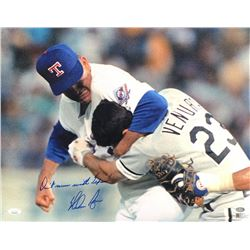 "Nolan Ryan Signed Texas Rangers 16x20 Photo Inscribed ""Don't Mess With Texas"" (JSA COA, Ryan Hologra"