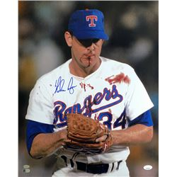 Nolan Ryan Signed Texas Rangers 16x20 Photo (JSA COA, Ryan Hologram  AIV Hologram)
