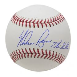 "Nolan Ryan Signed OML Baseball Inscribed ""7 No Hitters"" (JSA COA, Ryan Hologram  AIV Hologram)"