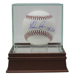 "Nolan Ryan Signed OML Baseball with Dsiplay Case Inscribed ""7 No Hitters"" (JSA COA, Ryan Hologram  A"