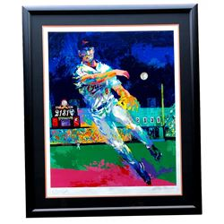 Cal Ripken Jr.  Leroy Neiman Signed LE 40x47 Custom Framed Serigraph Display (Beckett LOA)