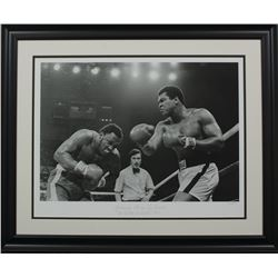 "Muhammad Ali vs. Joe Frazier LE ""The Thriller in Manila"" 23x28 Custom Framed Hulton Archive Giclee D"