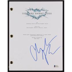 "Christian Bale Signed ""The Dark Knight Rises"" Movie Script (Beckett COA)"