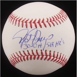 "Rafael Palmeiro Signed OML Baseball Inscribed ""3020 H / 569 HR's"" (MAB Hologram)"